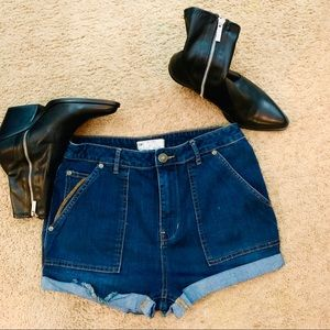 Excellent! Free people high waisted denim shorts